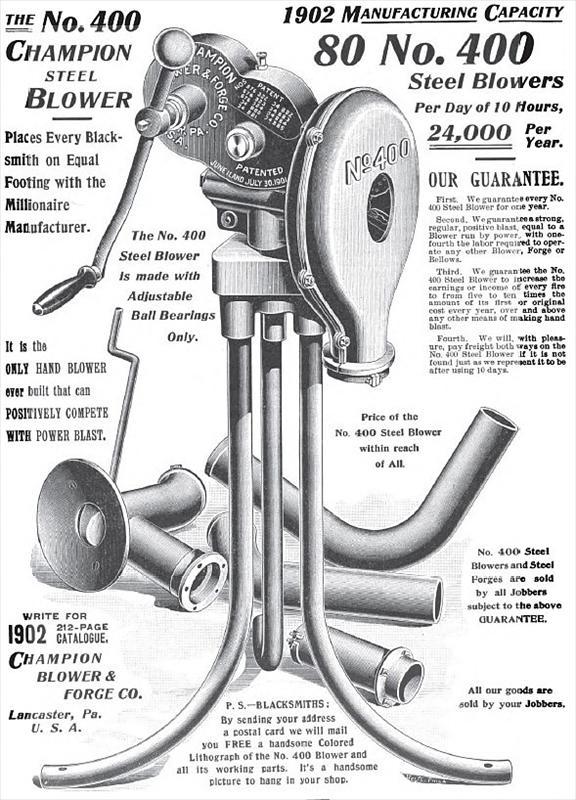 Champion Blower Amp Forge Co 1902 Ads Champion Blower