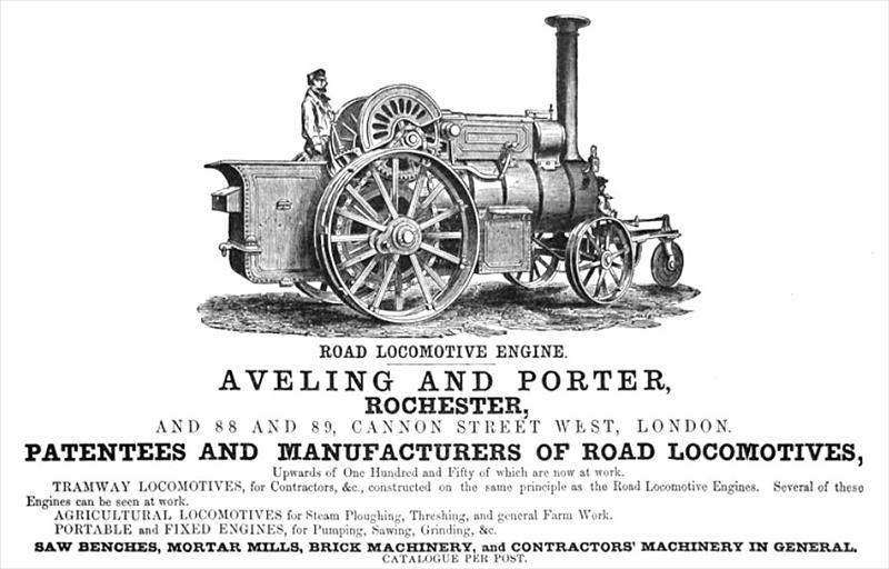 Aveling & Porter - 1866 Ad-Aveling & Porter, Steam Road Locomotive ...