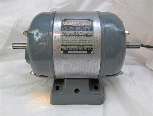 Photo index sears craftsman capacitor for Antique electric motor repair