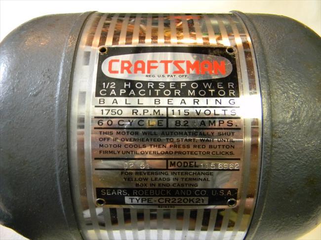 Photo Index Sears Craftsman 115 6962 1 2 Hp Cr220k21