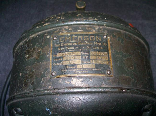 Photo index emerson electric co emerson 1 6 hp for Emerson electric motor model numbers