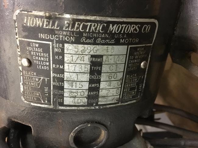 Howell Electric Motor Wiring Diagram : Photo index howell electric motors co red band