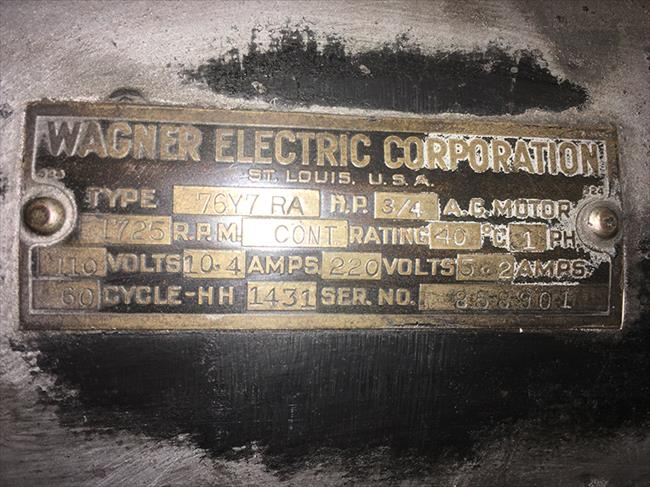 Photo Index - Wagner Electric Corp
