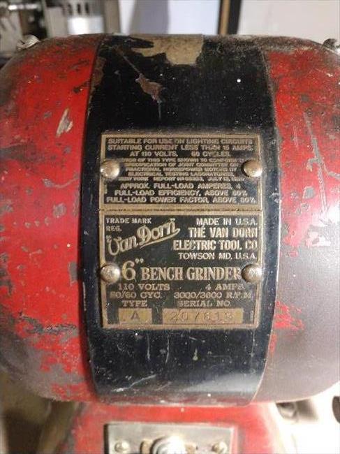 Photo Index Van Dorn Electric Tool Co 6 Quot Bench