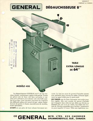 general 480 jointer manual